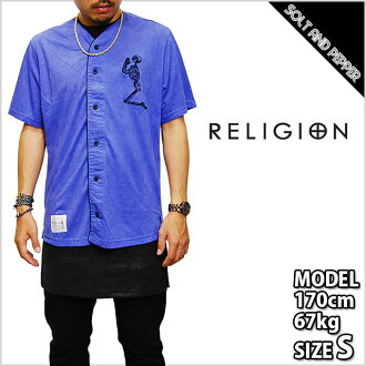 RELIGION CLOTHING DODGE SHIRT BLACK BLUE religion closing Dodge t-shirt skull embroidery short sleeve black blue tops men's Ladies black blue men women HIPHOP hip hop street dance costumes