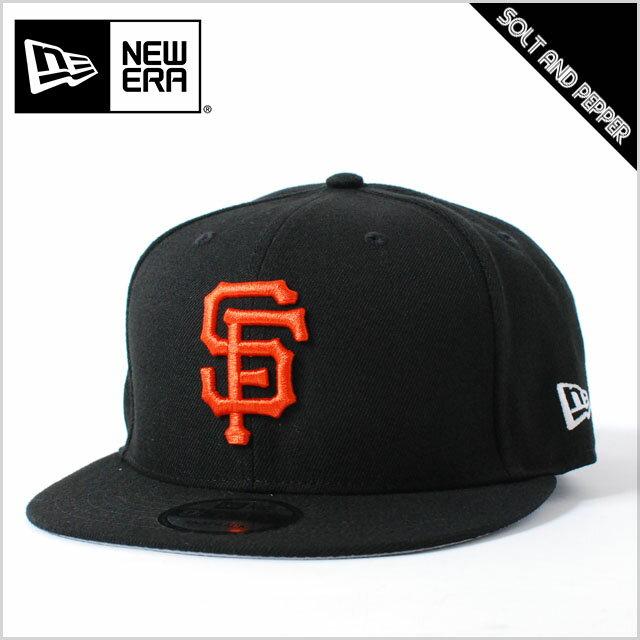 【USモデル】NEWERA ニューエラ 9FIFTY MLB SNAPBACK BLACK ORANGE サンフランシスコ・ジャイアンツ ナショナルリーグ 刺繍 ベイシック スナップバック ブラック 黒 オレンジ メンズ 男性 レディース 女性 帽子 小物 アクセサリー 送料無料 NEW ERA 正規取扱店