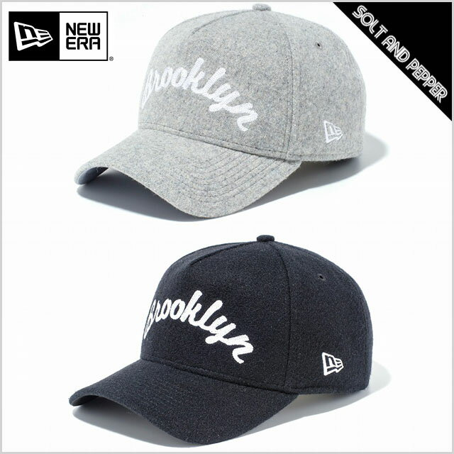 NEWERA ニューエラ CAP 9FORTY A-Frame チェーンステッチ Brooklyn グレーメルトン ブラックメルトン WHITE BLACK 白 黒 スナップバック サイズ調節可 メンズ 男性 レディース 女性 キャップ 帽子 ハット アメカジ 940 小物 アクセサリー 送料無料