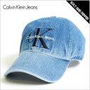 Calvin Klein Jeans カルバン クライン ジーンズ DENIM HAT LOGO SNAPBACK CAP INDIGO BLUE スナップバッ...
