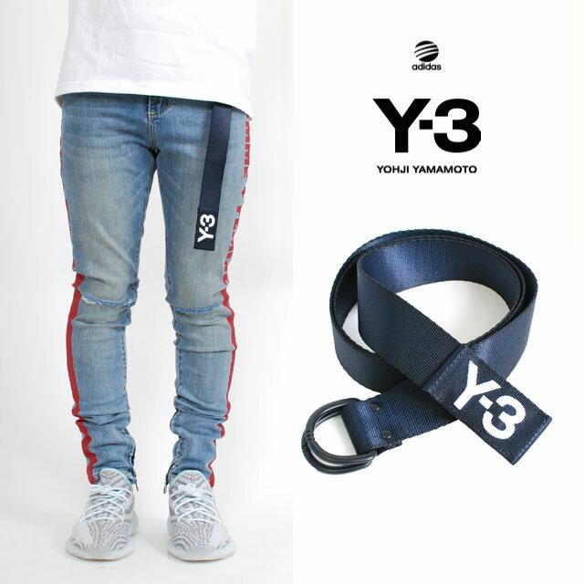 Y-3(adidas×Yohji Yamamoto) Y3 LOGO BELT LEGEND BLUE S10 NAVY ワイスリー アディダス ヨージヤマモト ロゴ リング ベルト レジェンド ブルー ネイビー 紺 メンズ 男性 小物 アクセサリー ストリート ワンポイント