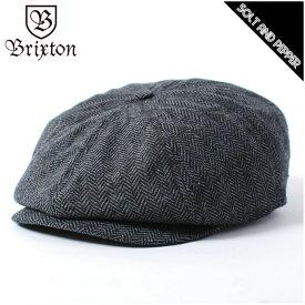 BRIXTON ブリクストン BROOD SNAP CAP GREY BLACK ブラッド スナップ キャップ ハンチング レディース メンズ 男性 女性 帽子 グレー ブラック 灰 黒