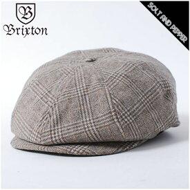 BRIXTON ブリクストン BROOD SNAP CAP SAND TAN ブラッド スナップ キャップ ハンチング レディース メンズ 男性 女性 帽子 サンド タン チェック柄