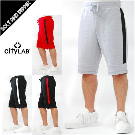 サイドライン入り CITY LAB シティーラブ PERFORMANCE FLEECE JSHORTS PANTS スウェット ショーツ ショートパンツ グレー 灰色 ブラック 黒 レッド 赤 ホワイト 白 無地 CITYLAB 大きいサイズ有 CITYLAB