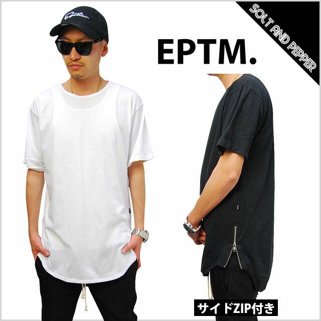 【送料無料】 EPTM エピトミ SIDE ZIP LONG T-SHIRTS WHITE BLACK サイド ジップ ロング丈Tシャツ ファスナー付き ロング丈 Tシャツ ホワイト 白 ブラック 黒 メンズ 男性 レディース 女性 TOPS トップス 無地Tシャツ EPTM.KANYE WEST YEEZY 5354 5358