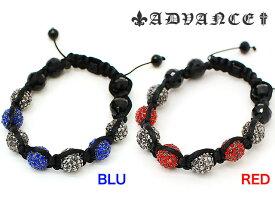 アウトレット ADVANCE BALL BRECELET BLUE RED 2COLOR アドバンス ボール ブレスレット ブルー レッド 2カラー 青 赤 2色 メンズ 男性 アクセサリー 小物