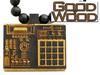 GOODWOOD NYC多媒体个人电脑NECKLACE良好木材纽约粉碎器项链DJ转盘木制配饰