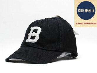 !!BLUE MARLIN BROOKLYN ROYAL GIANTS BASEBALL CAP VINTAGE BLACK蓝色海军陆战队布鲁克林皇家巨人棒球盖子黑色复古OLD SCHOOL老学校90'S