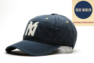 BLUE MARLIN NEW YORK BLACK YANKEES BASEBALL CAP VINTAGE NAVY蓝色海军陆战队纽约黑色扬基队棒球盖子深蓝复古OLD SCHOOL老学校90'S