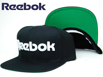 REEBOK×SWIZZ BEATZ SNAPBACK CAP LOGO BLK/WHT锐步×suuizubitsukorabosunappubakkukyappuburandorogoburakku/白帽子人/女士兼用男女两用黑/白