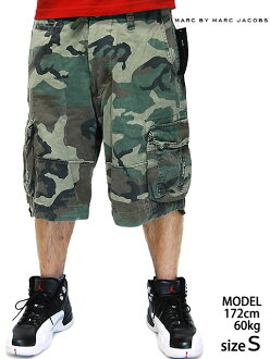 MARC BY MARC JACOBS CARGO SHORT CAMO mark by Mark GE cobs cargo shorts shorts Camo shorts Camo military men men
