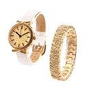 期間限定50%OFF (公式) アンコキーヌ Anne Coquine 腕時計 時計 パヴェストーン ゴールドベゼル(白ベルト)+スワロゴールドベルト 1245-0101 ウォッチ ブランド 高級 スワロフスキー ゴージャス プレゼント ギフト