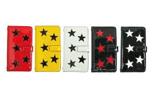 AnneCoquine(アンコキーヌ)iPhoneケース エナメルスター(7,8,X) エナメル スター モチーフ スマホケース 手帳タイプ 二つ折り プレゼント ギフト 2311