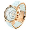 (公式) アンコキーヌ Anne Coquine 腕時計 時計 <2-フェイスウォッチ ホワイトベルト×ゴールドベゼル 1229-0101> スワロフスキー ダブルフェイス 2つ 海外旅行 ブランド