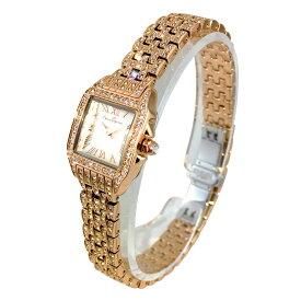 (公式) アンコキーヌ Anne Coquine 腕時計 レディース 時計 ALLビジューステンレス ミニスクエアー ゴールド 1232-1515 新作 デザイン スクエア アンティーク クラシック ブランド 高級 ぐるぐる くるくる 回る ゴージャス プレゼント ギフト 父の日