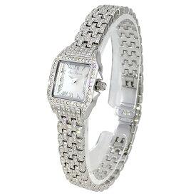 (公式) アンコキーヌ Anne Coquine 腕時計 レディース 時計 ALLビジューステンレス ミニスクエアー シルバー 1132-1414 スクエア アンティーク調 クラシック ブランド 高級 スワロフスキー ぐるぐる くるくる 回る プレゼント ギフト 父の日