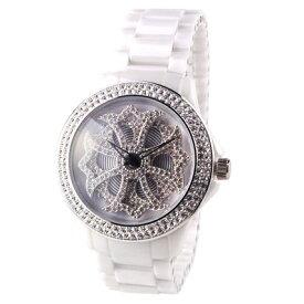 (公式)アンコキーヌ Anne Coquine 腕時計 メンズ 時計 セラミッククロス【ホワイト】 1118-0101 ウォッチ ブランド 高級 スワロフスキー ぐるぐる くるくる グルグル クルクル 回る ゴージャス プレゼント ギフト