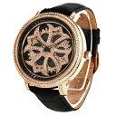 (公式)アンコキーヌ Anne Coquine 腕時計 メンズ 時計 クロスゴールドベゼル クロ×クロ 1201-0202 ジュエルウォッ…