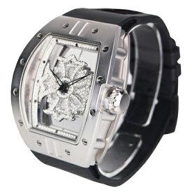 (公式)アンコキーヌ Anne Coquine 腕時計 メンズ 時計 ビッグ レクタングル スケルトン クロス ベゼル シルバー<クロス>クリアー<ベルト>ブラック 1125-0102 ウォッチ ブランド 高級 スワロフスキー ぐるぐる くるくる グルグル クルクル 回る プレゼント ギフト