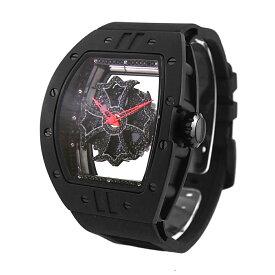 【公式】アンコキーヌ Anne Coquine 腕時計 メンズ 時計 ビッグレクタングル<ベゼル クロス ベルト>ブラック<針>レッド 1325-0202-04 ウォッチ ブランド 高級 スワロフスキー ぐるぐる くるくる グルグル クルクル 回る ゴージャス プレゼント ギフト