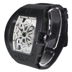 (公式)アンコキーヌ Anne Coquine 腕時計 メンズ 時計 ビッグ レクタングル スケルトン クロス ベゼル ブラック<クロス>クリアー<ベルト>ブラック 1325-0102 ウォッチ ブランド 高級 スワロフスキー ぐるぐる くるくる グルグル クルクル 回る プレゼント ギフト
