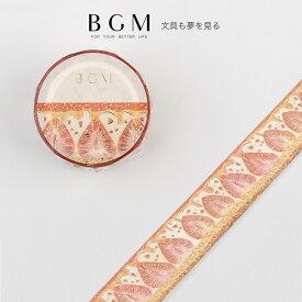 BGM マスキングテープ Life ライフ 箔押し イチゴパイ 20mm 2cm幅 2センチ 苺 いちご タルト 断面 スイーツ BM-LGWD002 ビージーエム マステ