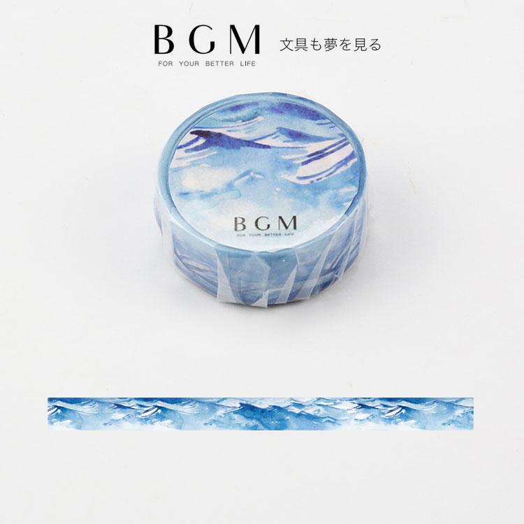 BGM マスキングテープ スペシャル 四季の色 碧海 15mm BGM-BM-SPS014 青い海 1.5cm幅 Special マステ ビージーエム
