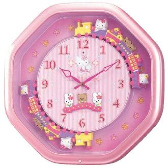 CITIZEN citizen rhythm clock clock HELLO KITTY Hello Kitty M766B4MH766MB13upup7