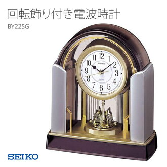 精工精工時鐘收音機時鐘旋轉與裝飾 BY225G 時鐘 03P01Mar15