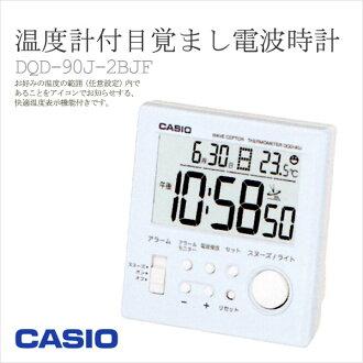 CASIO Casio alarm clock radio watch WAVE CEPTOR thermometer with alarm clock DQD-90J-2BJFfs2gmfs3gm