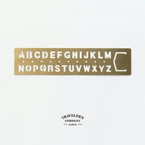 ブラス ブックマーク アルファベット TRAVELER'S COMPANY トラベラーズカンパニー 真鍮 42169006