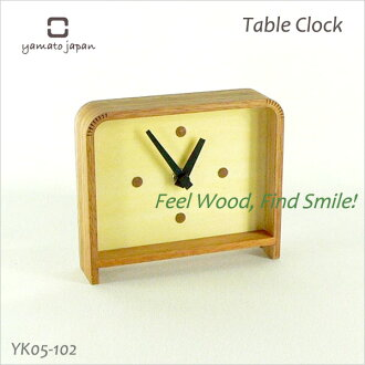デザインク lock インテリアク lock clock Table Clock b table clock YK05-102 Yamato crafts fs3gm filled with warmth of wood