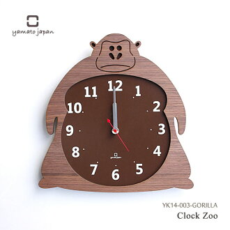 大和工业艺术礼品! 动物杂交时钟动物 c 锁定时钟动物园大猩猩时钟 YK14-003-GORILLA03P01Mar15