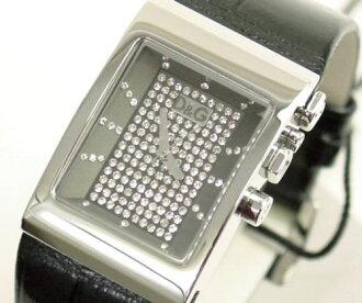 D&G TIME Dolce & Gabbana LOGO SIDE EX Lady's leather belt watch DW0154