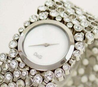 D & G TIME d & g RISKY ladies SS belt wristwatch DW0243