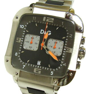 D & G TIME die and say LICENSED chronograph SS belt watch DW0247