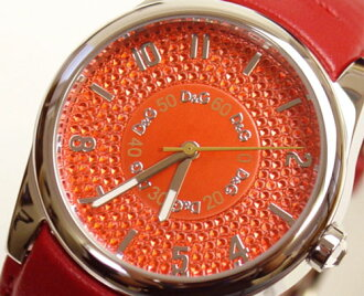 D & G TIME Dolce & Gabbana SANDPIPER logoface watch DW0260 Red