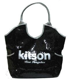 KITSON/キットソン スパンコールトートバッグ Los Angeles Sequin Tote Black/Silver 【ラッピング無料】【楽ギフ_包装】【10P11Mar16】【05P03Dec16】