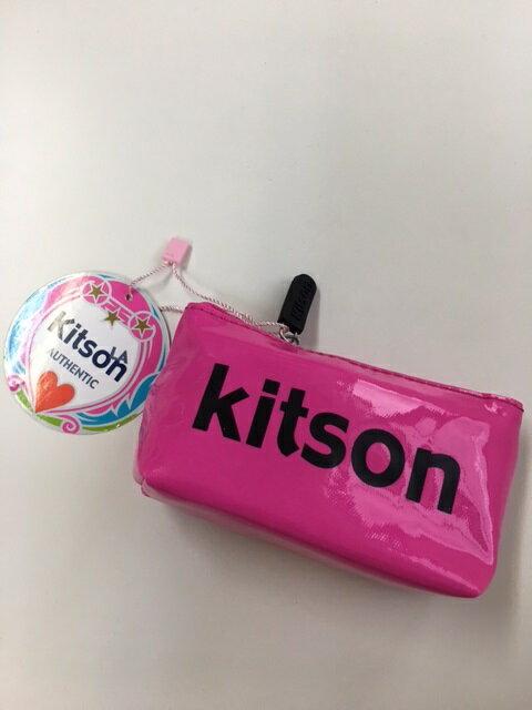 KITSON/キットソン  ミニポーチ ピンク×ブラック 【Luxury Brand Selection】【ラッピング無料】【楽ギフ_包装】【05P03Dec16】