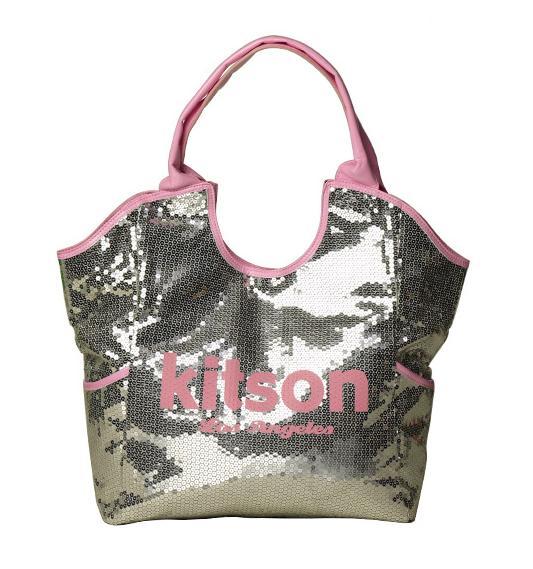 KITSON スパンコールトートバッグ Los Angeles Sequin Tote Silver/Pink【ラッピング無料】【楽ギフ_包装】【10P11Mar16】【05P03Dec16】