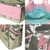 凯特珠片手提袋洛杉矶珠片手提包银/粉红色