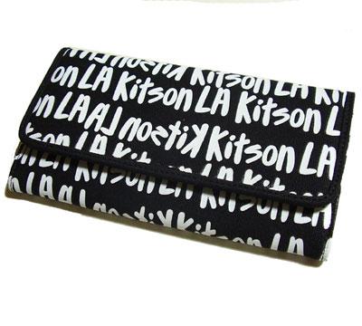 KITSON /キットソン 長財布 GRAFFITI WALLET BLACK【ラッピング無料】【楽ギフ_包装】【10P11Mar16】【05P03Dec16】