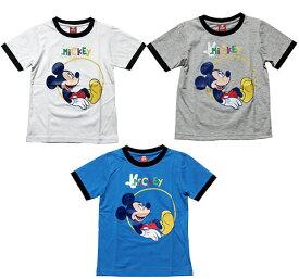 【まとめ割り対象商品】【メール便送料無料】Disney(ディズニー)MICKEY MOUSE T-SHIRTミッキーマウス Tシャツ 【子供服 4歳 6歳 8歳 10歳】