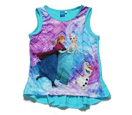 【まとめ割り対象商品】【メール便送料無料】Disney(ディズニー)FROZEN Anna & Elsa TankTopアナと雪の女王 タンクトップ ライトブルー【子供服 4歳 6歳 8歳】