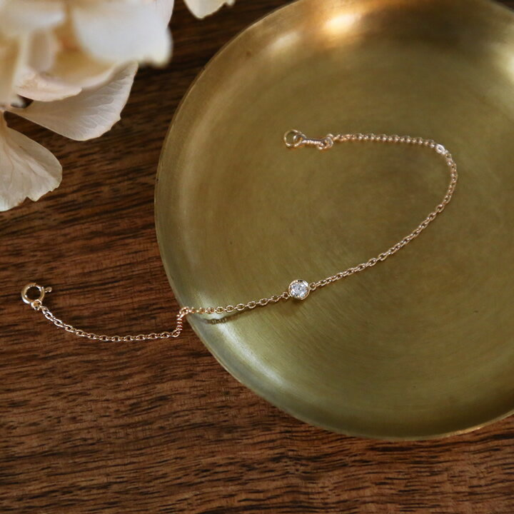 k18 一粒 ダイヤモンド ブレスレット 『BETTiA』 ブレスレット 18k 18金 一粒ダイヤ ダイヤブレスレット ダイヤ レディース ゴールド bracelet シンプル 大人 女性 上品 送料無料 ギフト プレゼント