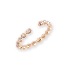 【Cres】 イヤーカフ レディース ダイヤモンド イヤーカフス k18 18金 18k k10 10金 10k ゴールド ピンクゴールド 女性 ダイアモンド シンプル 大人 開けない 痛くない 挟むだけ 片耳用 カジュアル トレンド プレゼント ギフト
