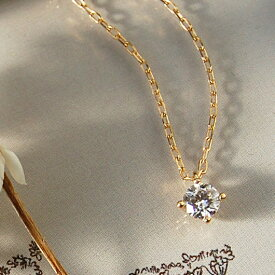 一粒 ダイヤモンド ネックレス 『Pealina 0.2ct 』 ネックレス レディース 一粒ダイヤ k18 18金 18k k10 10金 10k ゴールド ペンダント ダイアモンド pendant シンプル 大人 女性 上品 送料無料 ギフト プレゼント