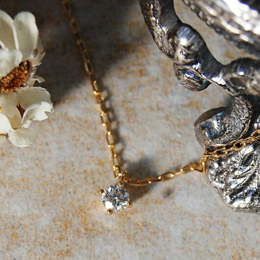 一粒 ダイヤモンド ネックレス 『Pealina 0.1ct 』 ネックレス レディース 一粒ダイヤ k18 18金 18k k10 10金 10k ゴールド ペンダント ダイアモンド pendant シンプル 大人 女性 上品 送料無料 ギフト プレゼント