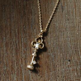 バケットカット ダイヤモンド キー ネックレス 『Key Necklace』 ネックレス レディース キーネックレス 鍵 k18 18金 18k k10 10金 10k ゴールド ペンダント ダイアモンド pendant 大人 女性 送料無料 ギフト プレゼント