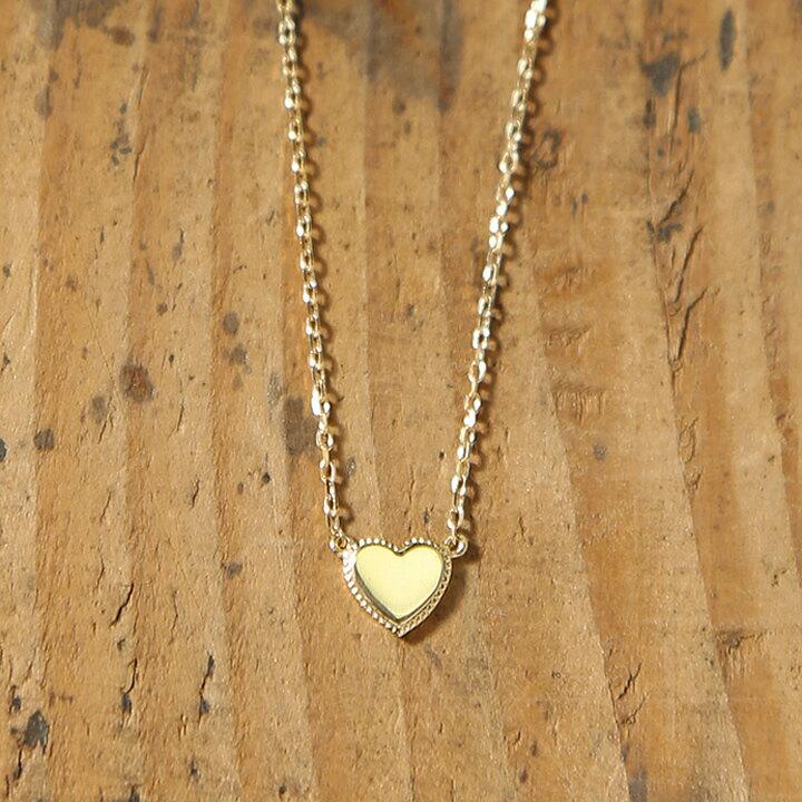 K18 ゴールド ハート ネックレス 「Tina」